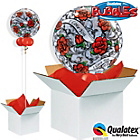 more details on I Love You Red Rose Filigree Bubble Balloon in a Box.