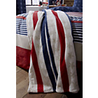 more details on Catherine Lansfield Stars and Stripes Throw - Multicoloured.