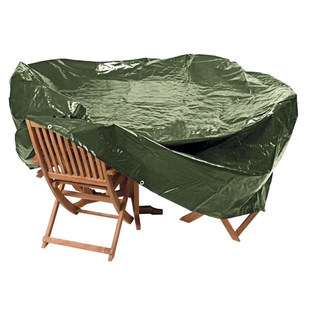 Buy home heavy duty extra large oval patio set cover at for Oval patio set cover