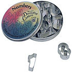 more details on Mini Numbers Cookie Cutter Set - Assorted.