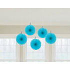 more details on Paper Decorative Pack of 10 Fan Decorations - Blue.