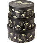 more details on Arthouse Lagoon Round Storage Box Set of 3 - Black.