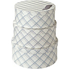 more details on Arthouse Tartan Round Storage Box Set of 3 - Neutral.