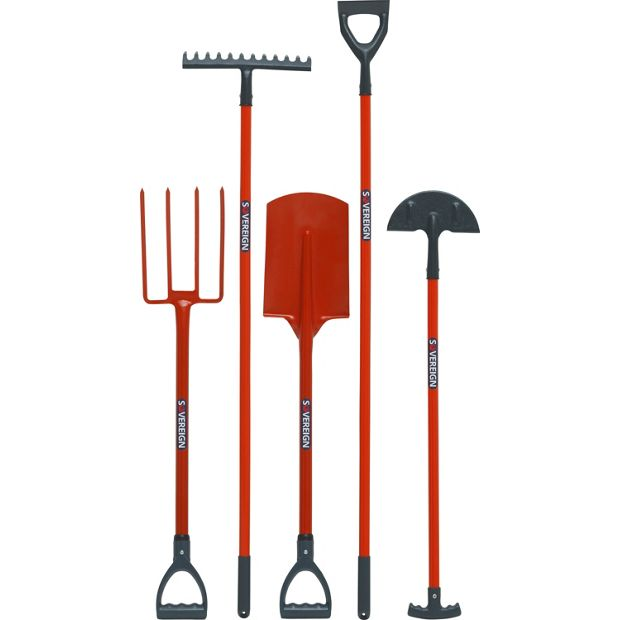 Buy sovereign 5 piece set of garden tools at for Gardening tools 7 letters