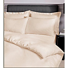 more details on Cream Satin Stripe Duvet Cover Set - Kingsize.