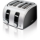AEG AT7104B-U 4 Slice Toaster - Black