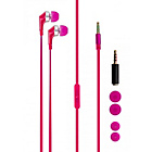 more details on Xqisit PTT Universal In-Ear Headphones - Pink.