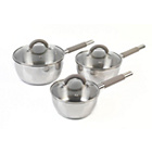 more details on Salter 3 piece Stainless Steel Pan Set.