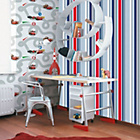 more details on Graham and Brown Wallpaper - Kids Long Island Stripe Blue.