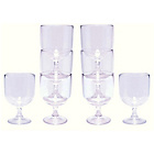 more details on Signature Stacking Plastic Wine Glasses - Set of 8.
