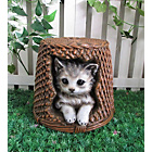 more details on Cat in a Basket Garden Ornament/Planter.