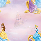more details on Disney Pretty as a Princess Wallpaper - Multicoloured.
