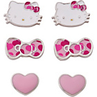 more details on Hello Kitty Pink Hearts Stud - Set of 3.