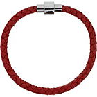 more details on Stainless Steel and Red Leather Bracelet.