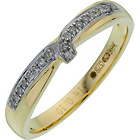 more details on 9ct Gold Diamond Set Twist Wedding Ring - 3mm.