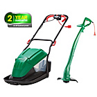 more details on Qualcast Corded Hover 1600W Mower and 320W Grass Trimmer.