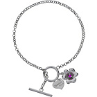 more details on Sterling Silver Created Ruby Special Mum Charm Bracelet.