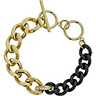 more details on Stainless Steel Gold and Black Coloured Bracelet.