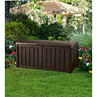 more details on Brown Keter Aubree Wood Effect Plastic Garden Storage Box.