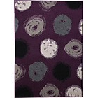 more details on Rhylee Spot Design Rug - Plum.