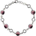 more details on Opulenza Sterling Silver Crystal and Amethyst Tone Bracelet.