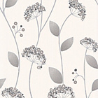 more details on Graham and Brown Claire Wallpaper - Grey.
