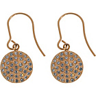 more details on Shimla Rose Gold Plated Czech Crystal Disc Drop Earrings.