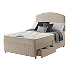 more details on Sealy Relax Tufted Backcare Double 2 Drawer Divan.
