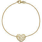 more details on 9ct Gold Cut Out Heart Disc Bracelet.