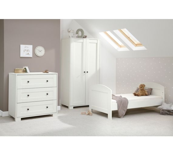 Mamas Papas Harrow 3 Piece Nursery Furniture Set White At Argos