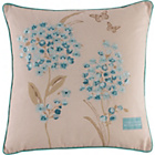 more details on Heart of House Emily Floral Cushion - Duck Egg.