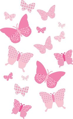 FunToSee Pink Butterflies Room Kit