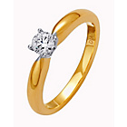 more details on Made for You 9ct Gold Diamond Solitaire Ring - Size Q.