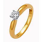 more details on Made for You 9ct Gold Diamond Solitaire Ring - Size R.