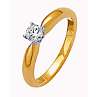more details on Made for You 9ct Gold Diamond Solitaire Ring - Size S.