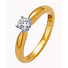 more details on Made for You 9ct Gold Diamond Solitaire Ring - Size T.