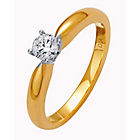 more details on Made for You 9ct Gold Diamond Solitaire Ring - Size U.