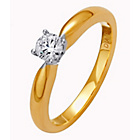 more details on Made for You 9ct Gold Diamond Solitaire Ring - Size V.