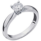 more details on Everlasting Love 18ct W Gold 0.50ct Diamond Solitaire Ring-S