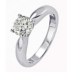 more details on Everlasting Love 18ct W Gold 1.00ct Diamond Solitaire Ring-S