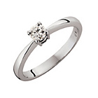 more details on Platinum 0.25ct Diamond Solitaire Ring - Size T.