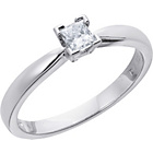 more details on Everlasting Love Platinum 0.25ct Diamond Princess Cut Ring-S