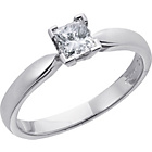 more details on Everlasting Love Platinum 0.50ct Diamond Princess Cut Ring-S