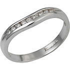 more details on Made for You 9ct White Gold Diamond Wedding Ring - Size J.