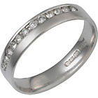 more details on Made for You 9ct White Gold Diamond 4mm Wedding Ring-Size J.