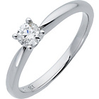 more details on Made For You 18ct White Gold 0.25ct Solitaire Ring