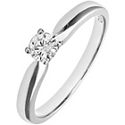 more details on Made For You 18ct White Gold 0.33ct Solitaire Ring