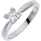 more details on Made For You White Gold 0.50ct Diamond Ring - Size V.