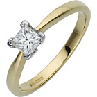 more details on Made For You 18ct Gold 0.50ct Solitaire Ring - Size V.