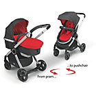 more details on Chicco Urban Pram and Pushchair Travel System - Red.